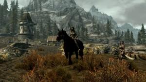 Mit Huskarl und Pferd