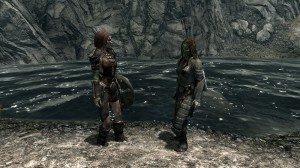 Aela, die Jägerin friert nicht so leicht