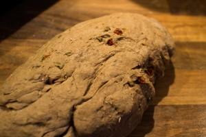 Brotteig geknetet und 30 min. gegangen