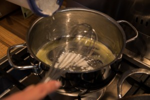 Sauce für Spargelgemüse: Mehlschwitze
