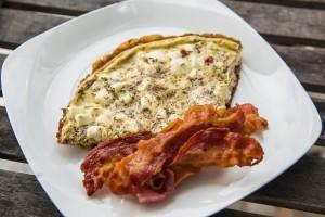 Omelett Provençal mit Speck