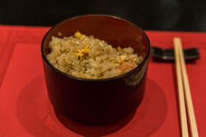 Sushimoto Gourment-Menü: Gebratener Reis mit Garnelen